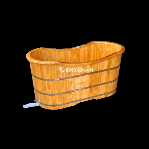 Bồn tắm gỗ Pơ mu bo viền cao cấp