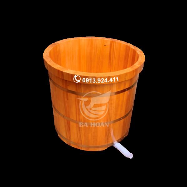 Bồn tắm gỗ thông bo viền (giá rẻ)
