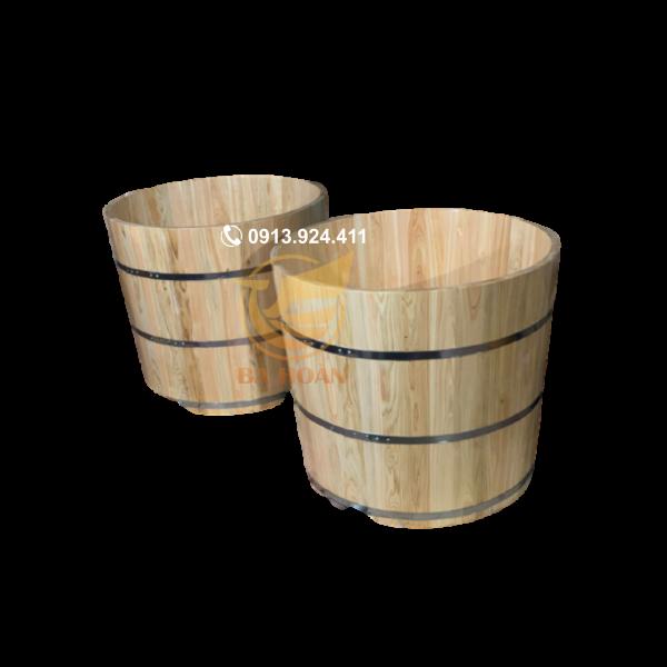 Bồn tắm gỗ tròn pơ mu nhật cao cấp (không viền)
